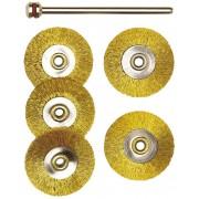 28961 Set perii din bronz miniatura, pentru masini de gaurit, frezat, slefuit, Proxxon