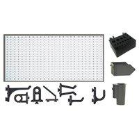 A2-1 Panou perforat orizontal alb, 1000x500 mm cu set accesorii