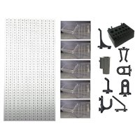 A3-2 Panou perforat vertical alb, 500x1000 mm cu set accesorii