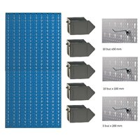 B1-4 Panou perforat vertical albastru, 500x1000 mm cu set accesorii