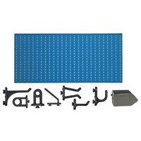 C1-3 Panou perforat orizontal albastru, 1000x500 mm cu set accesorii