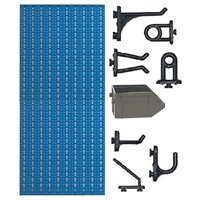 C1-4 Panou perforat vertical albastru, 500x1000 mm cu set accesorii