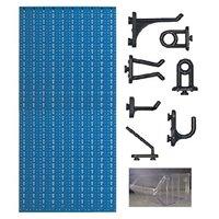 C3-4 Panou perforat vertical albastru, 500x1000 mm cu set accesorii
