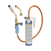 Lampa de lipit cu gaz Turbo de Luxe 2000, furtun 1,5m , include 1 butelie